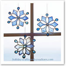 easy to make ornaments stained glue snowflake