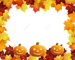 halloween pumpkins with fall leaves royalty free cliparts vectors