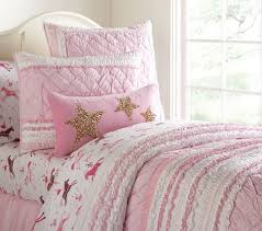 Juliette Bed Pottery Barn Brigette Ruffle Quilted Bedding Pottery Barn Kids Girls