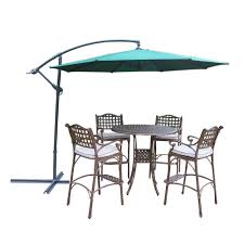 Patio Height Dining Set - rst brands deco 5 piece all weather wicker patio bar height dining