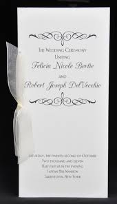 wedding bulletins exles sle wedding programs