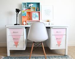 Chalk Paint Desk by Desk Makeover With Chalky Finish Paint My Sister U0027s Suitcase
