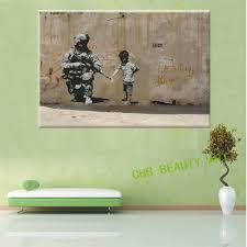 canvas painting printed banksy graffiti art peace child soldier canvas painting printed banksy graffiti art peace child soldier pop art wall pictures for living room unframed in painting calligraphy from home garden