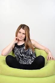 teen relaxing in bean bag chair stock image image 30695363