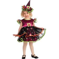 light up confetti witch toddler halloween costume walmart com