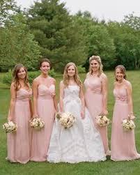 blush colored bridesmaid dress glamorous whimsical bright blush blushing bridemaids