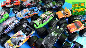 monster truck videos for kids youtube monster trucks toys collection grave digger jam in mud videos for