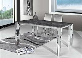 marble and stainless steel dining table stainless steel dining table top new marble buy with regard to 5
