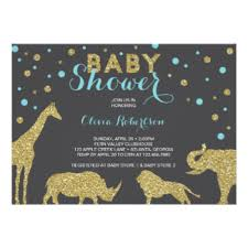 Wild Safari Blue Baby Shower by Safari Baby Shower Gifts On Zazzle