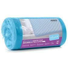 foam for bed milliard 2in egg crate memory foam mattress topper use as a