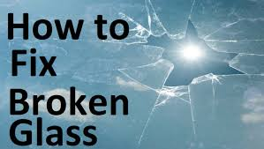 how to fix broken glass youtube
