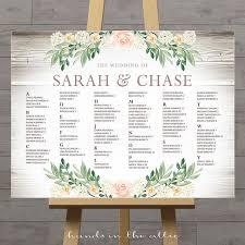 Wedding Program Board Rustic Seating Charts For Weddings Chart Ideas Poster Wedding