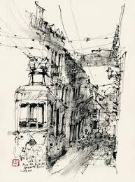15apr02 singlelinedemo 4 urban sketching reportage
