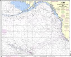 Map Of Aleutian Islands Noaa Chart 530 North America West Coast San Diego To Aleutian