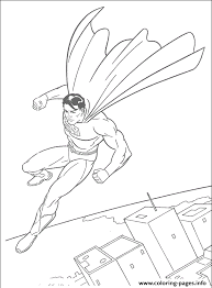 superman flying sky free coloring page07a8 coloring