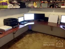 Corner Desk Diy Wrap Around Computer Desk 7 Diy Corner Desk Ideas Simplified