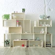 modular unit repurposed wood box crate case modern cube modular unit stacked