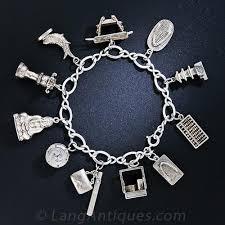 bracelet charm silver images Silver japanese vintage charm bracelet jpg
