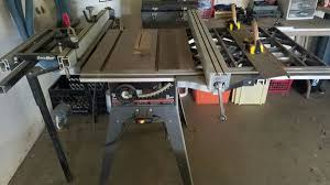 craftsman sliding table saw craftsman table saw with excalibur sliding table attachment tools