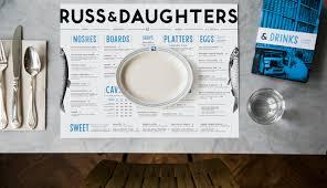 Beautiful Menu Russ U0026 Daughters Cafe