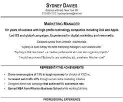 resume summary exles marketing resume summary exles for sales professional resume summary