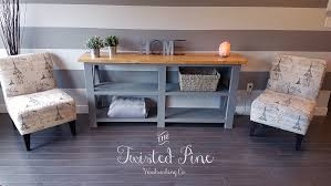 X Console Table Rustic X Console Table Pine Main