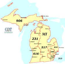 michigan area code map michigan area code map michigan map