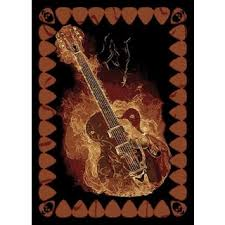 Guitar Area Rug Legends Guitar Area Rug 6 6 X 9 10 Free Shipping Today