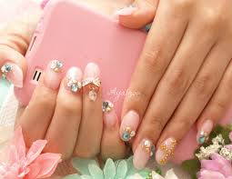 natural color acrylic nails with gems my client acrylic sc u2026 flickr