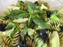 garden pesto pasta salad with olives u2013 swirls and spice