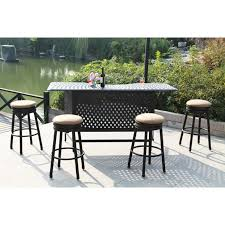 Outdoor Bar Stools With Backs Black Polished Iron Outdoor Barstool For Outdoor Furniture With