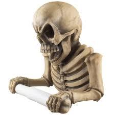 art deco skeleton ring holder images Evil skeleton decorative toilet paper holder in scary jpg