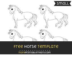horse template u2013 small
