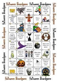 halloween board game worksheet free esl printable worksheets