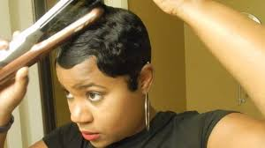 best relaxers for short black hair short relaxed hair tutorial how i style my short cut youtube