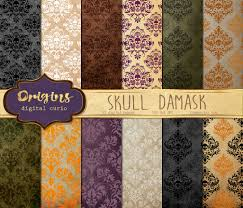 vintage halloween backgrounds damask skull digital paper halloween damask scrapbook papers