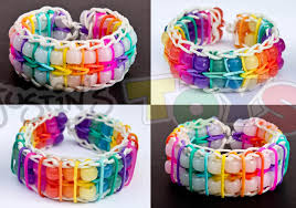 color bead bracelet images How to make a reversible pinstripe double ladder color changing jpg