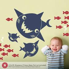 happy shark family wall decals graphic spaces shark family wall decals