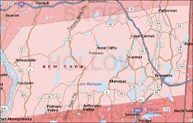 county map of ny putnam county york color map