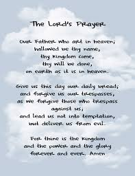 the lord s prayer as a pattern of caring for god s need and also