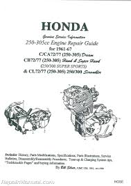 honda 250 305cc dream hawk super hawk motorcycle engine repair