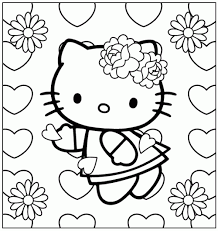 hello kitty coloring pages free coloring pages