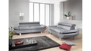 sofa garnitur 3 teilig gã nstig garnitur carrier polstermapbel mit relaxfunktion in grau