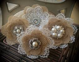 burlap cake toppers rustic burlap and lace cake flowers with vintage inspired