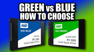 how to choose blue vs green wd ssd youtube