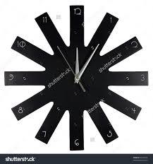 modern black wooden cuckoo wall clock