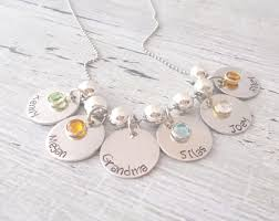 necklace with kids names personalized necklace jewelry necklace