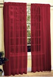 Sheer Maroon Curtains 2 Solid Burgundy Sheer Window Curtains Drape