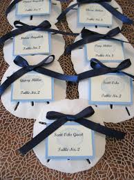 personalized sand dollars wedding sand dollar table assignements