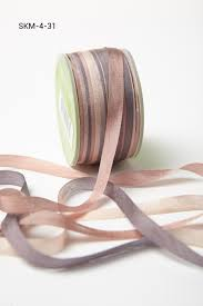 silk ribbon 1 4 inch variegated silk ribbon grey taupe buy ribbons